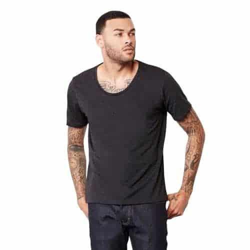 Men Wide Neck Tee Cheap T Shirt Printing Hub92prints