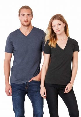 bella canvas unisex t shirts v-neck