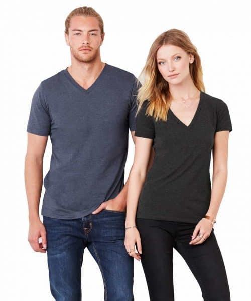 bella canvas unisex t shirts v neck