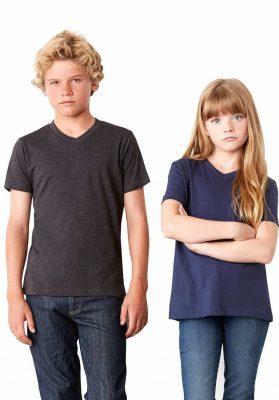 bella canvas youth v-neck t-shirt