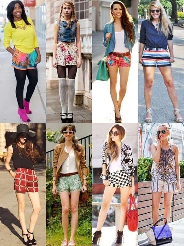 custom printed women shorts