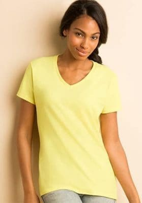 gildan ladies v neck t shirts