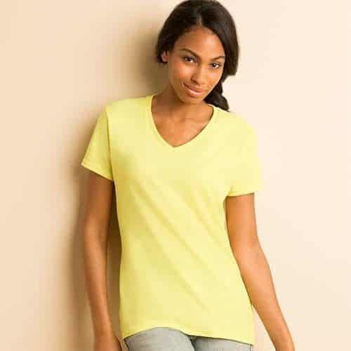 gildan ladies v neck t shirts 5V00L