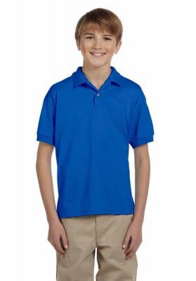 embroidery gildan youth polo shirts