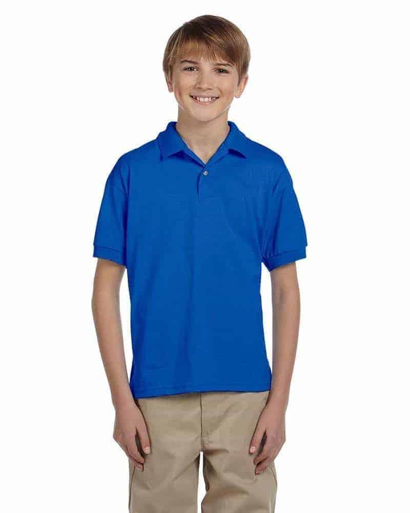 gildan embroidery youth polo shirt