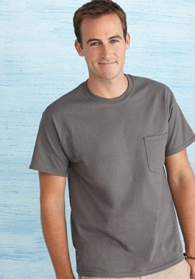 gildan ultra cotton pocket t- shirt