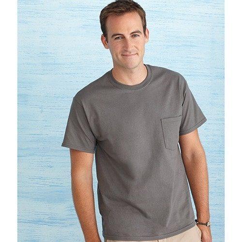 gildan ultra cotton pocket t- shirt