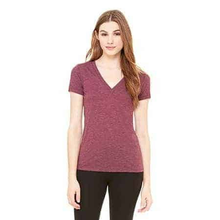 bella canvas tri blend deep v-neck