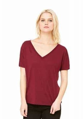 BELLA CANVAS SLOUCHY V-NECK TEE