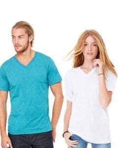 bella canvas v neck unisex