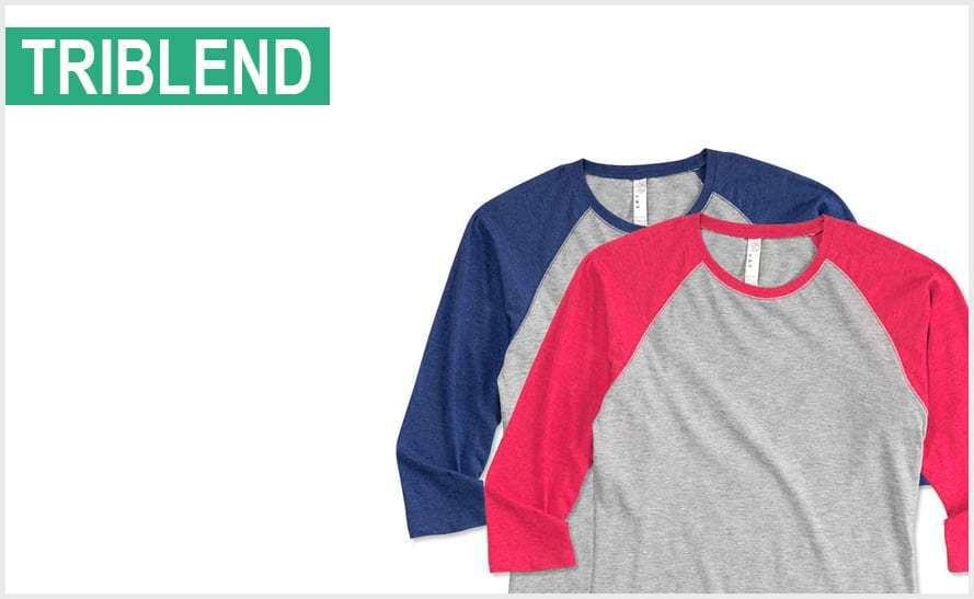 custom tri blend t shirts