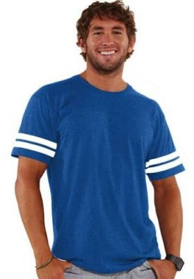 lat fine jersey football men tee