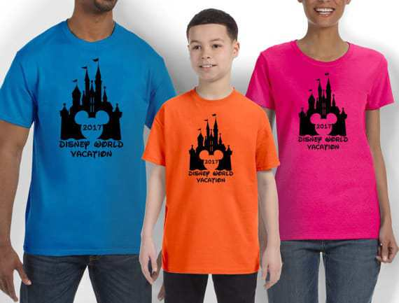 family vacation ideas t shirt