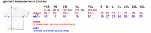 Gildan Ultra Cotton Sizes Chart