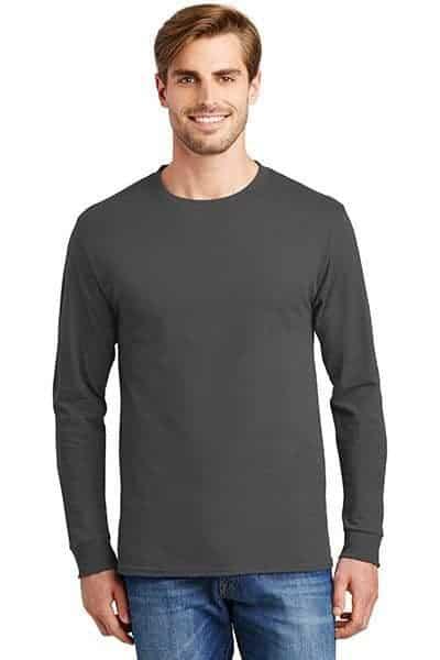 hanes long sleeve t shirts