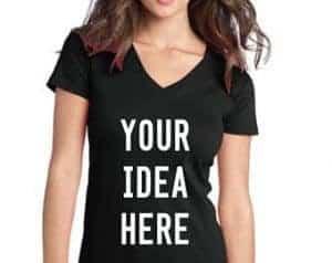 custom v neck t shirts