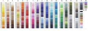 embroidery thread colors hub92prints