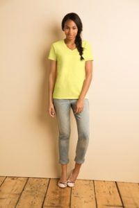 gildan v neck woman tee
