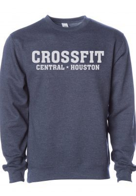 crossfit houston navy heather sweatshirt